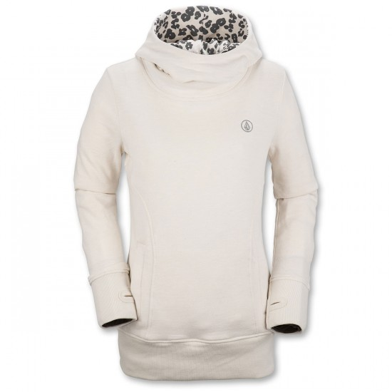 Volcom Tower Womens Pullover Fleece Hoodie - White