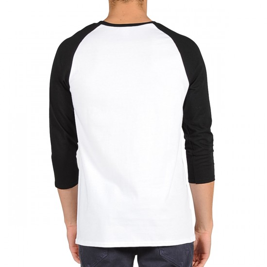 Volcom War Patch 3/4 Sleeve Raglan T-Shirt - White