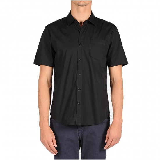 Volcom Weirdoh Solid Short Sleeve Woven Shirt - New Black