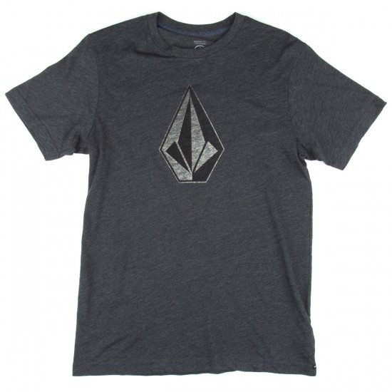 Volcom Whenever Boys T-Shirt - Heather Black
