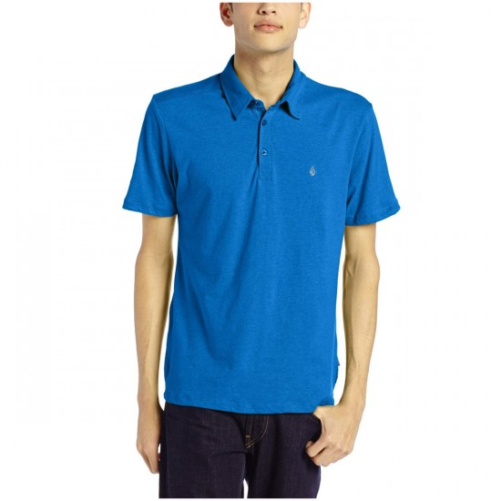 Volcom Wowzer Youth Polo Shirt - Bold Blue
