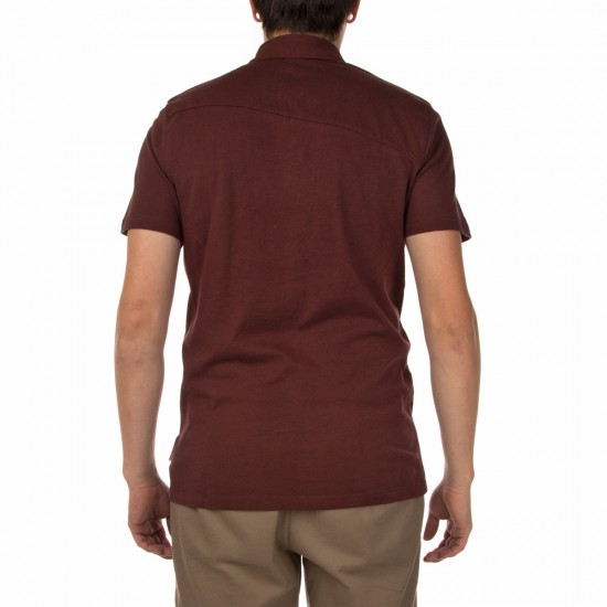 Volcom Wowzer Polo Shirt - Cherry Wood