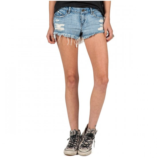Volcom Yae Cut Off Shorts - Heavy Worn Faded