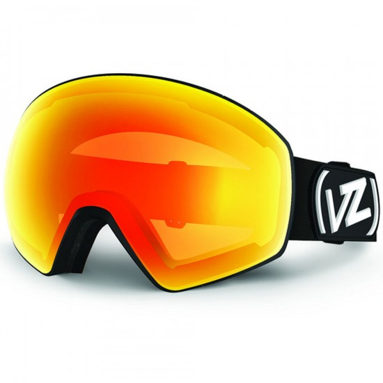 Von Zipper Jetpack Snowboard Goggles - Black Satin/Fire Chrome