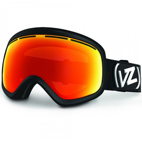 Von Zipper Skylab Snowboard Goggles - Black Satin/Fire Chrome