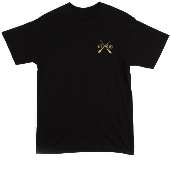 Welcome Broomstick T-Shirt - Black/Gold