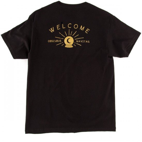 Welcome Dark Energy Pocket T-Shirt - Black/Gold