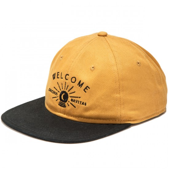 Welcome Dark Energy Unstructured 6-Panel Slider Hat - Gold/Black