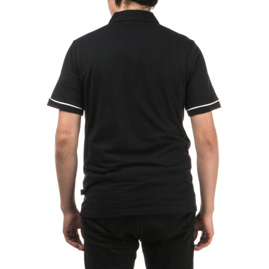 Welcome Jackalope Polo Shirt - Black/White