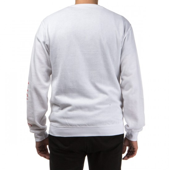 Welcome Krampus Lightweight Crew Fleece Sweatshirt - White