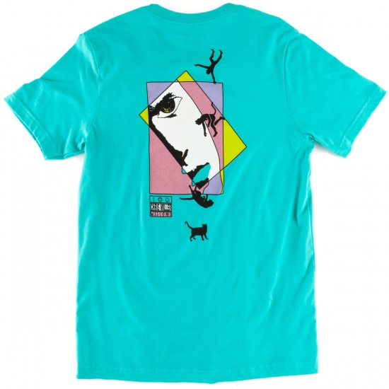 Welcome Miller Faces T-Shirt - Teal