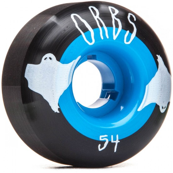 Welcome Orbs Poltergeists Skateboard Wheels - 54mm 102A - Black With Teal Core
