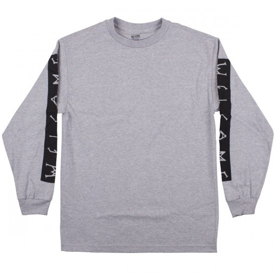 Welcome Scrawl Bar Long Sleeve T-Shirt - Heather/Black