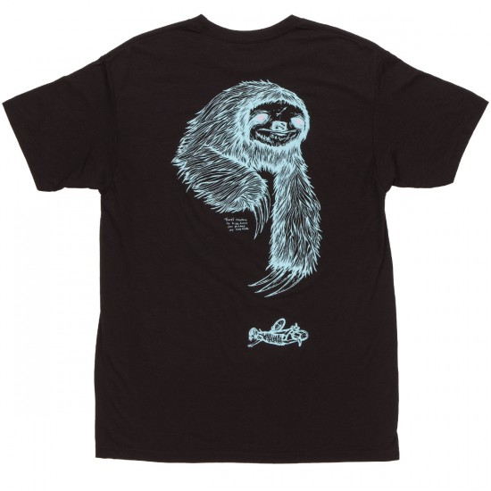 Welcome Sloth T-Shirt - Black/Blue