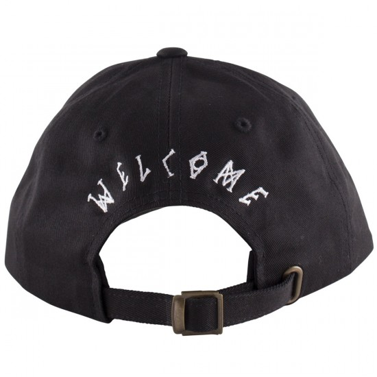 Welcome Symbol Unstructured Slider Hat - Black/White