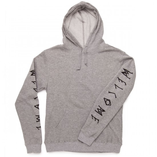 Welcome Tali-Scrawl Lightweight Pullover Hoodie Sweatshirt - Heather/Black