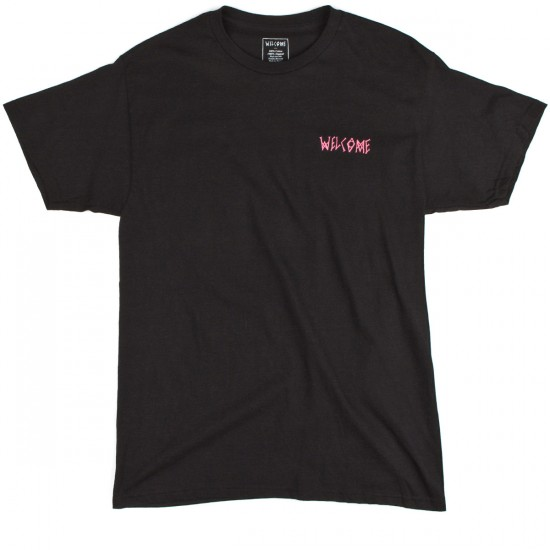 Welcome Talisman Gradient T-Shirt - Black/Pink/Teal