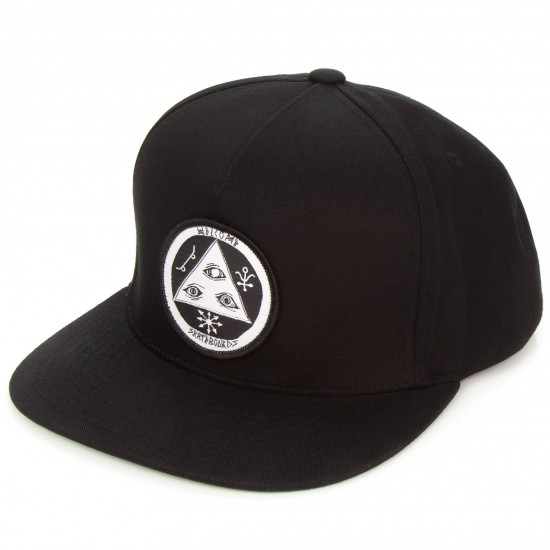 Welcome Talisman Snapback Hat - Black/White