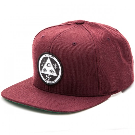 Welcome Talisman Snapback Hat - Maroon/Black