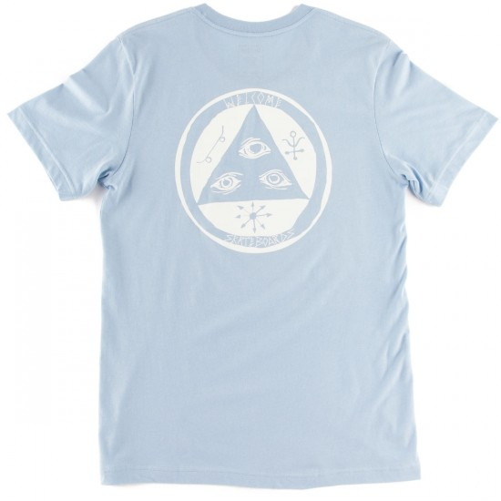 Welcome Talisman T-Shirt - Baby Blue/White