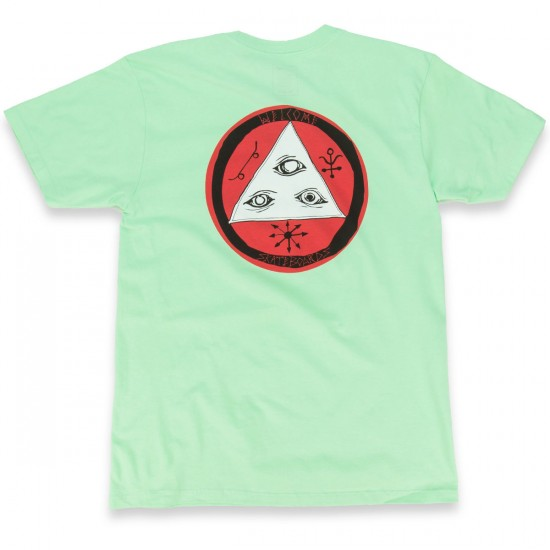 Welcome Talisman Tri-Color T-Shirt - Mint/Red/White