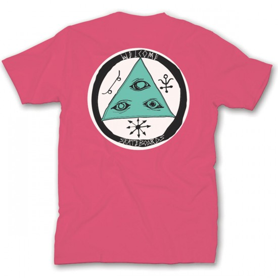 Welcome Talisman Tri-Color T-Shirt - Coral/Teal/White