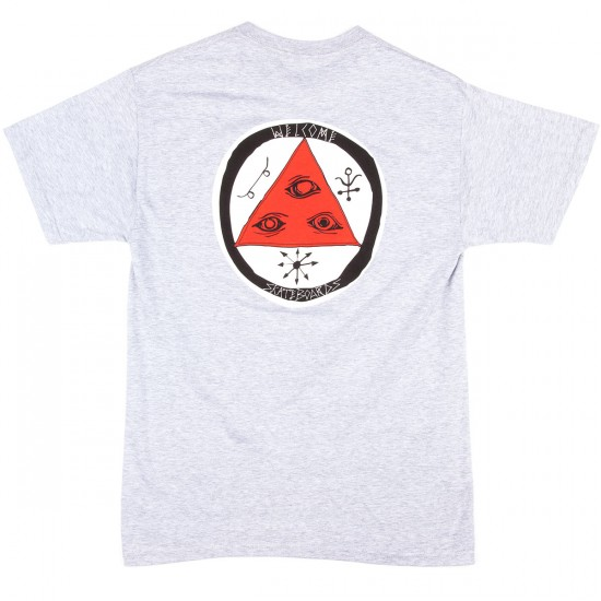 Welcome Talisman Tri-Color T-Shirt - Heather/Coral/White