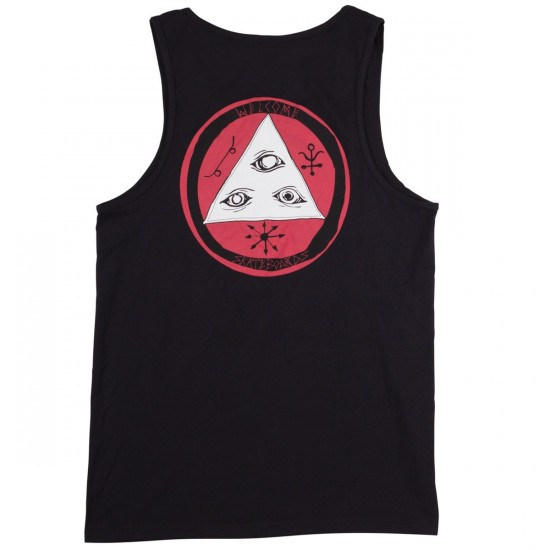 Welcome Talisman Tri-Color Tank Top - Black/Teal/White