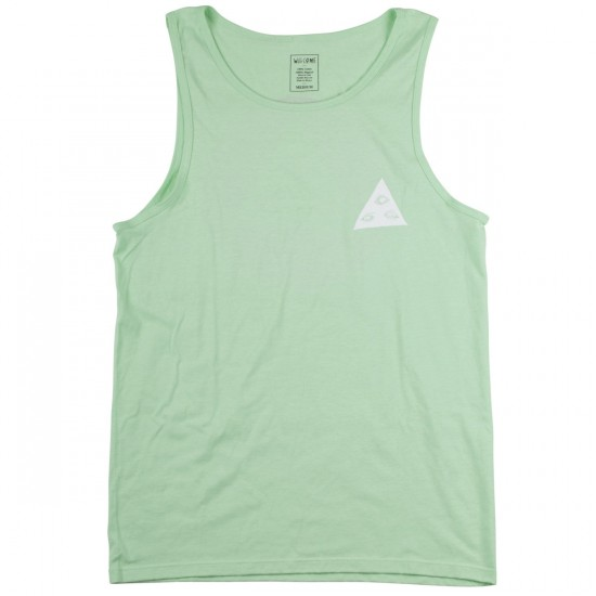 Welcome Talisman Tri-Color Tank Top - Mint/Red/Black