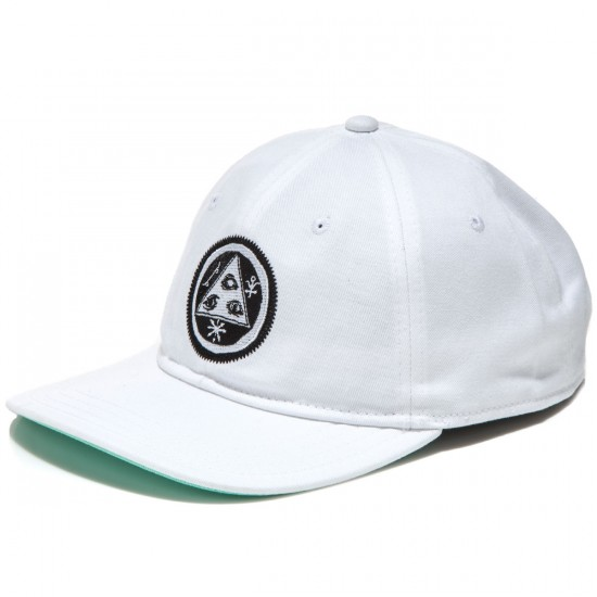 Welcome Talisman Unstructured Snapback Hat - White/Black