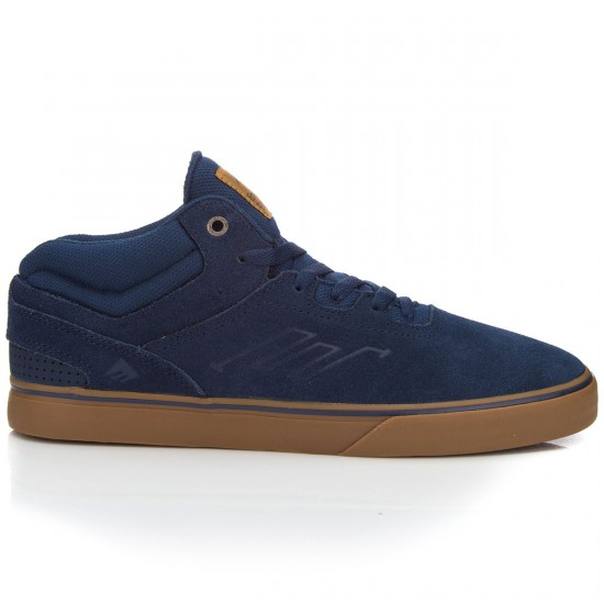 Emerica Westgate Mid Vulc Shoes - Dark Blue/Gum - 7.0
