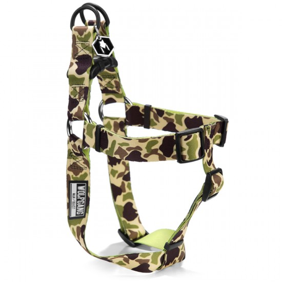 Wolfgang Duck Lime Dog Harness  - SM