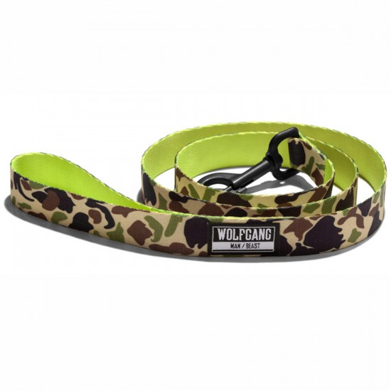 Wolfgang Duck Lime Dog Leash - 1in x 6ft