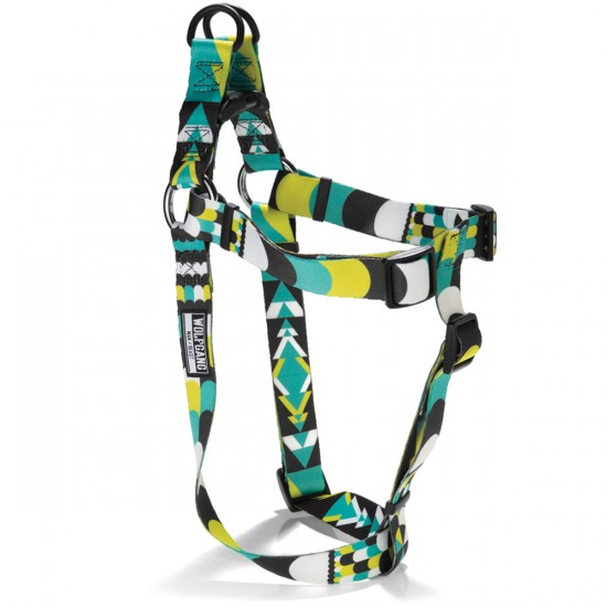 Wolfgang Process Print Dog Harness - Blue/Yellow