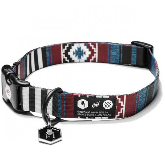 Wolfgang X Stance Salem Dog Collar - Maroon/Black
