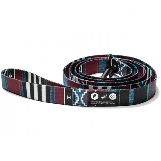 Wolfgang X Stance Salem Dog Leash  - Maroon/Black - 5/8in x 4ft
