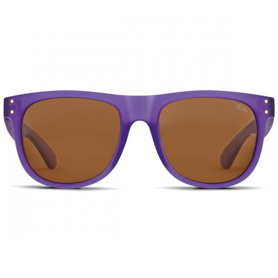 Zeal Ace Sunglasses - Deep Purple/Copper