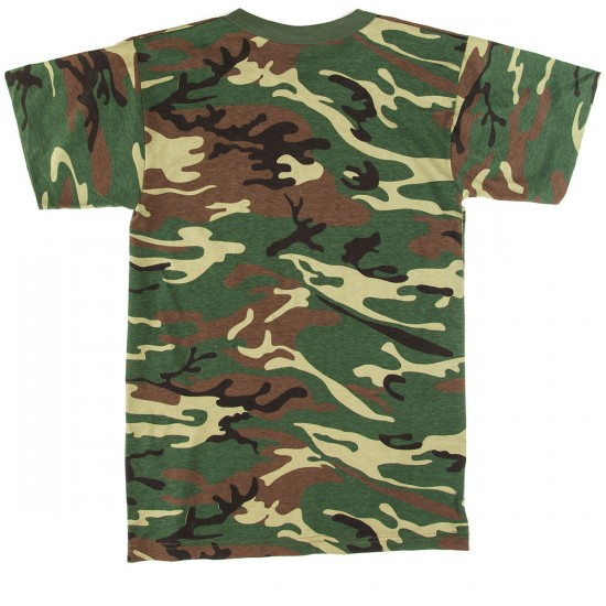 Zero Camo Single Skull T-Shirt - Camo/Black