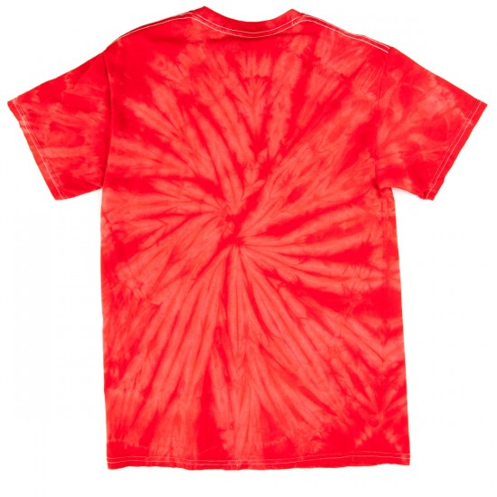 Zero Fallen Blood Skull T-Shirt - Red Tie Dye