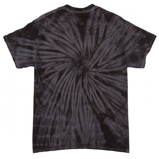 Zero Tie Dye Single Skull T-Shirt - Black