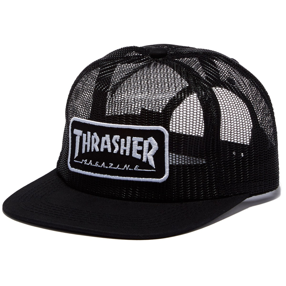 Thrasher Magazine Logo Mesh Hat - Black/White