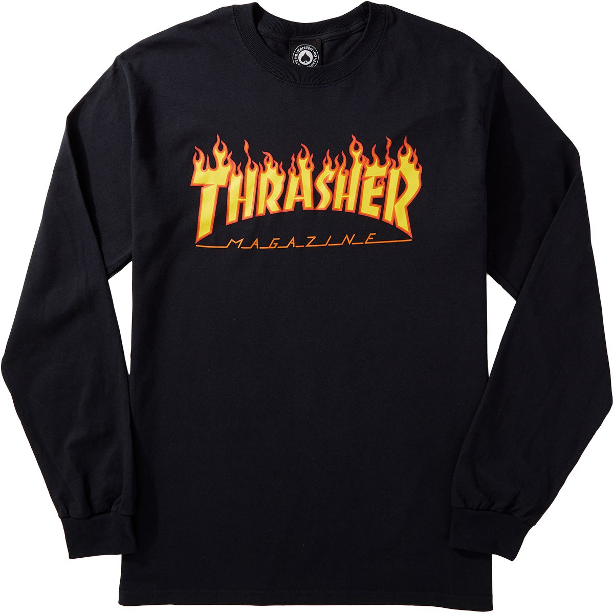 Thrasher Flame Long Sleeve T-Shirt - Black 3e862f83aeea