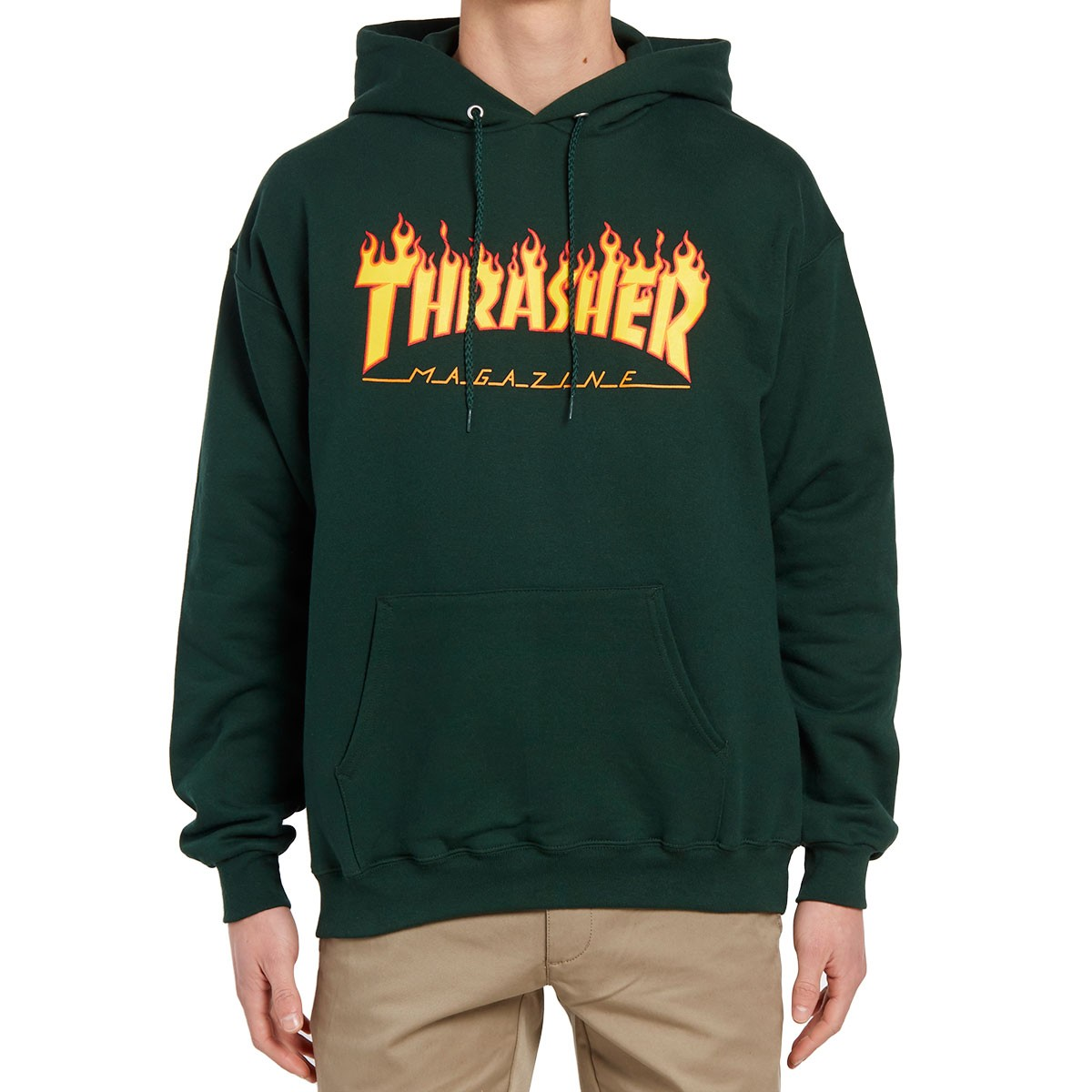 Thrasher Flame Logo Hoodie - Forest Green 0d186288f