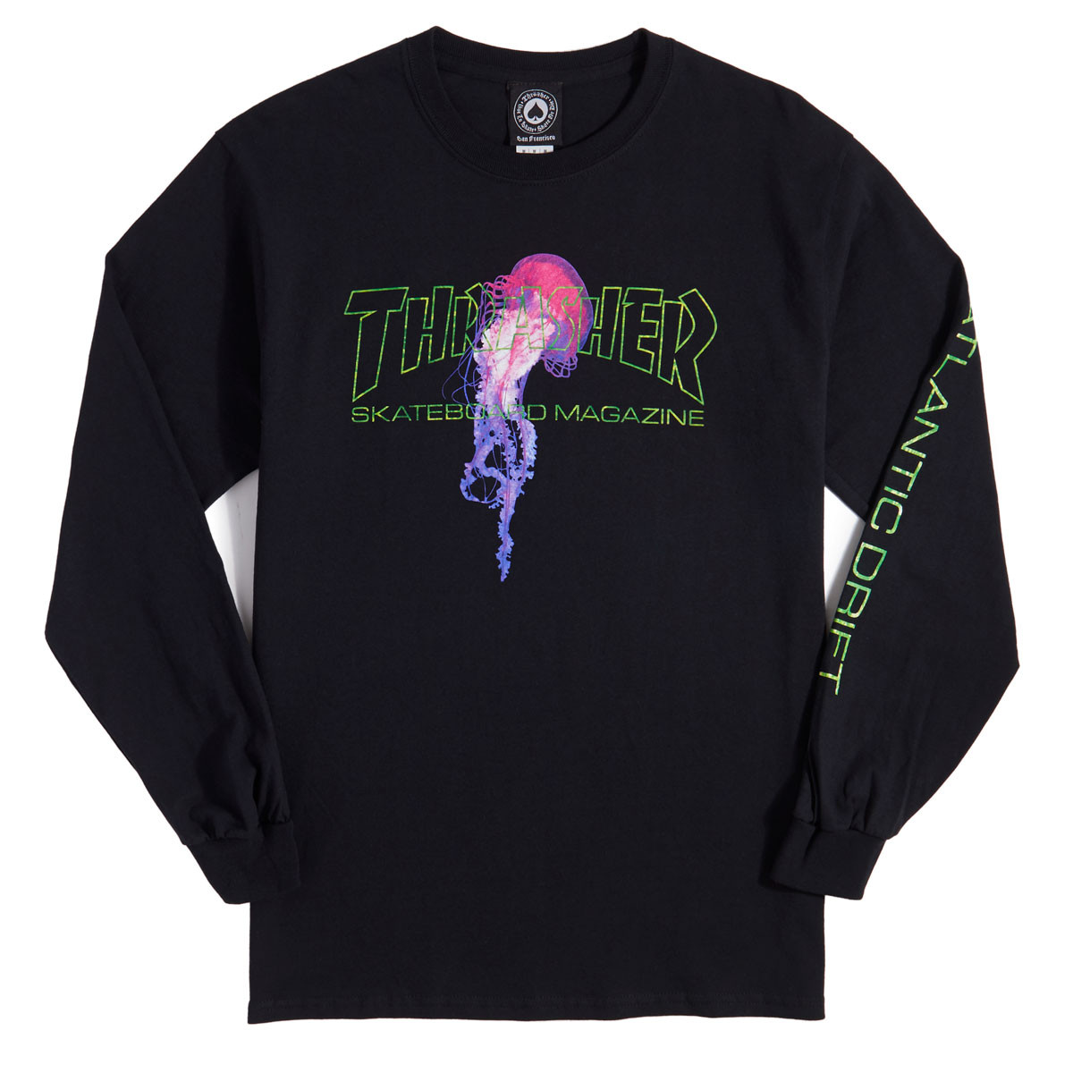 45a86690332d Thrasher Atlantic Drift Long Sleeve T-Shirt - Black