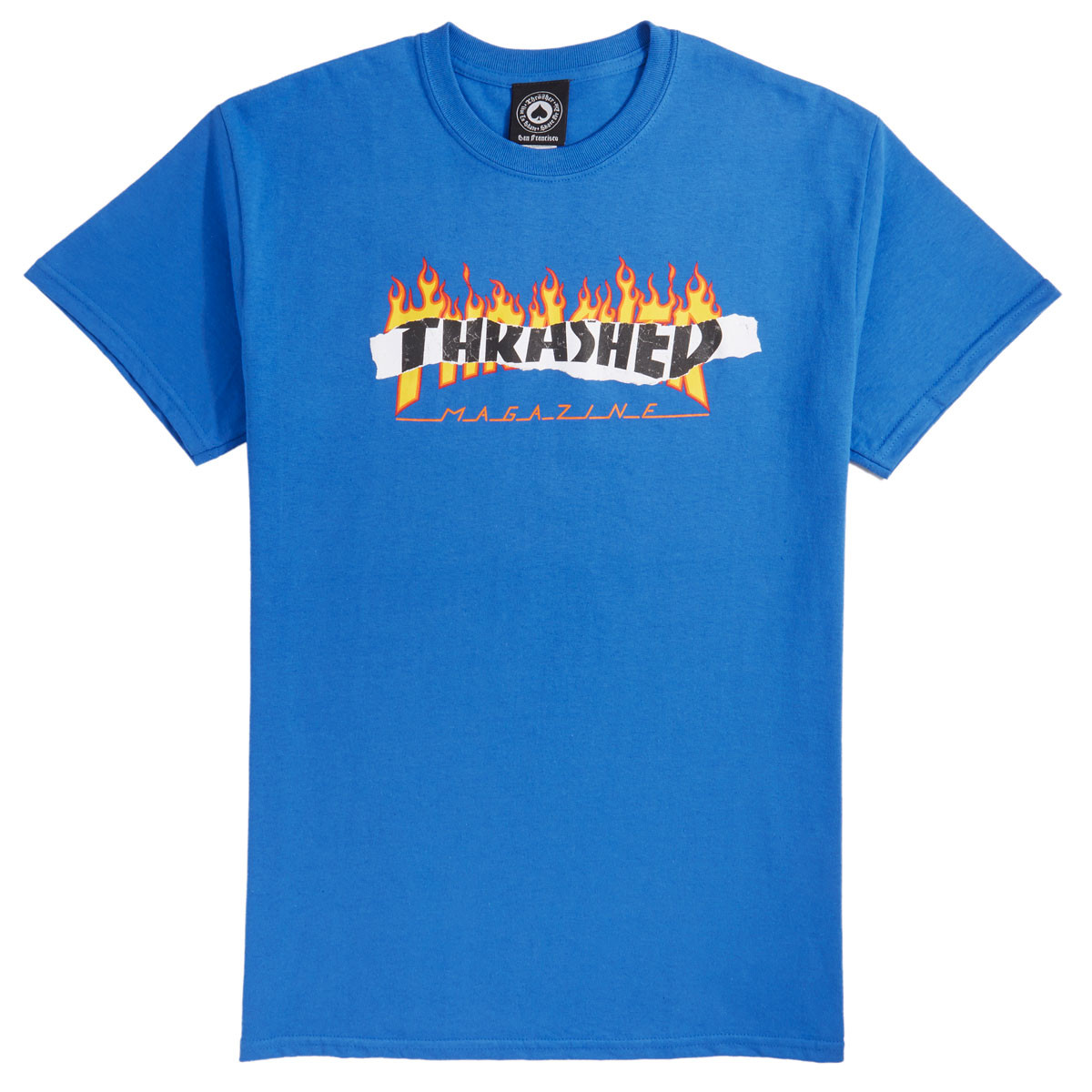 e981595d0829d Thrasher Ripped T-Shirt - Royal Blue