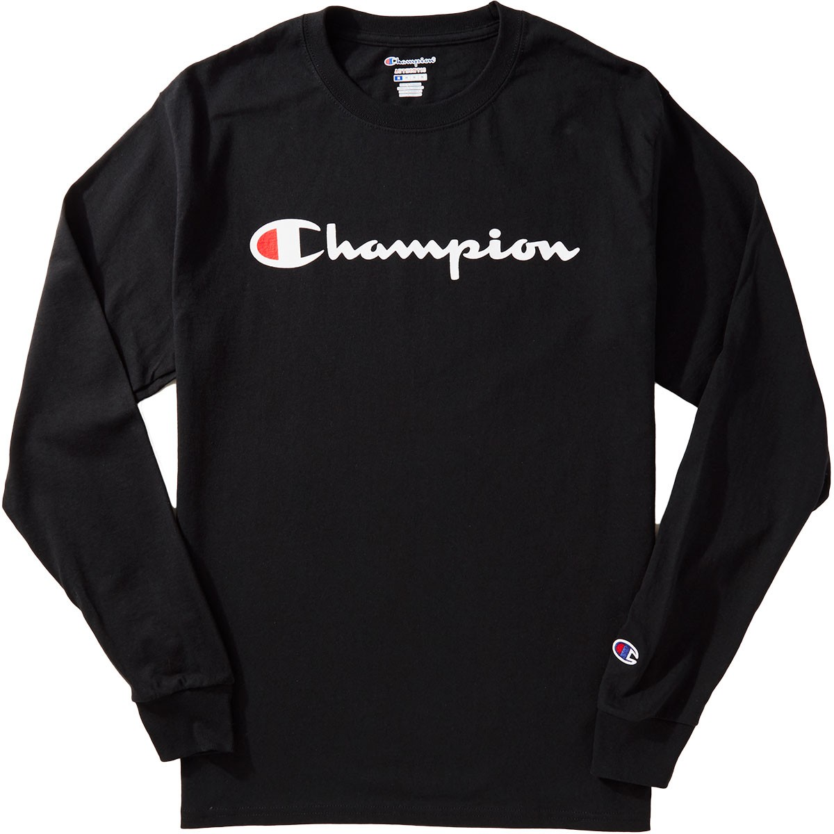 Champion Logo Long Sleeve T-Shirt - Black f95b22e80c32