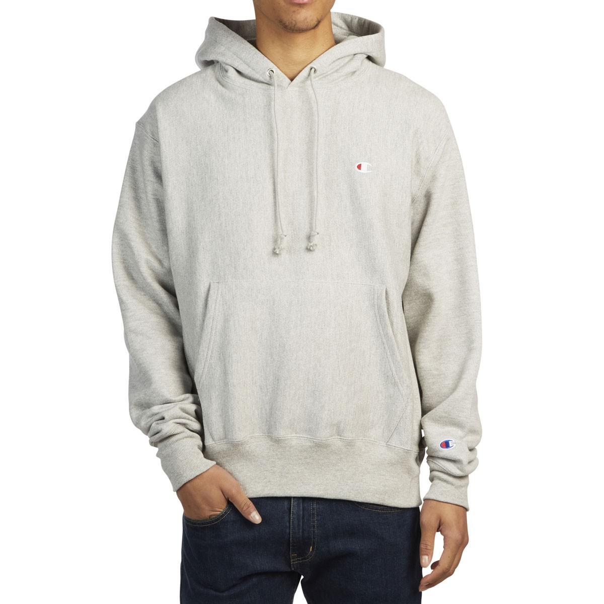 17c5e2fd Champion Reverse Weave Pullover Hoodie - Oxford Grey