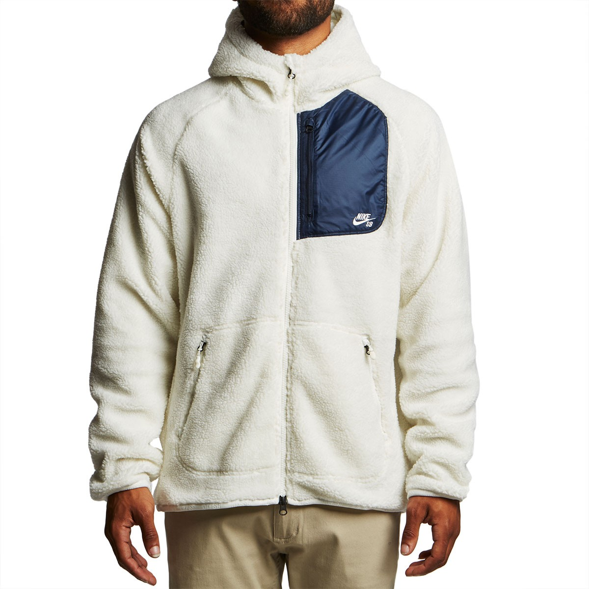 new release cheap prices lowest discount Nike SB Everett Full Zip Sherpa Hoodie - Sail/Black/Sail