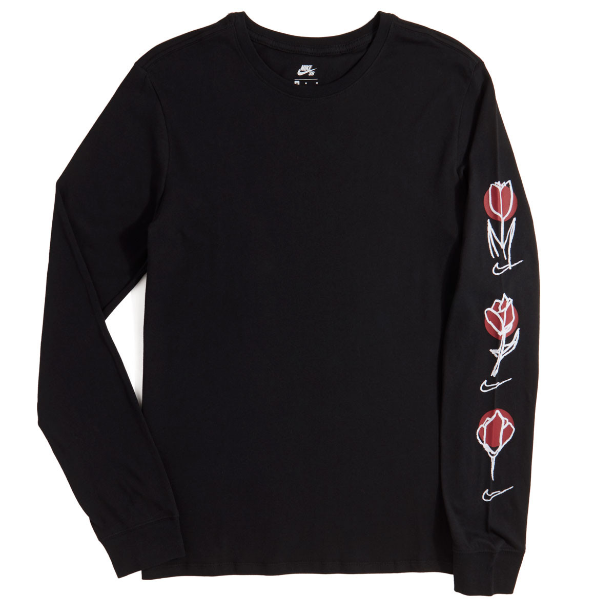 985466dc20c Nike SB Roses Long Sleeve T-Shirt - Black White