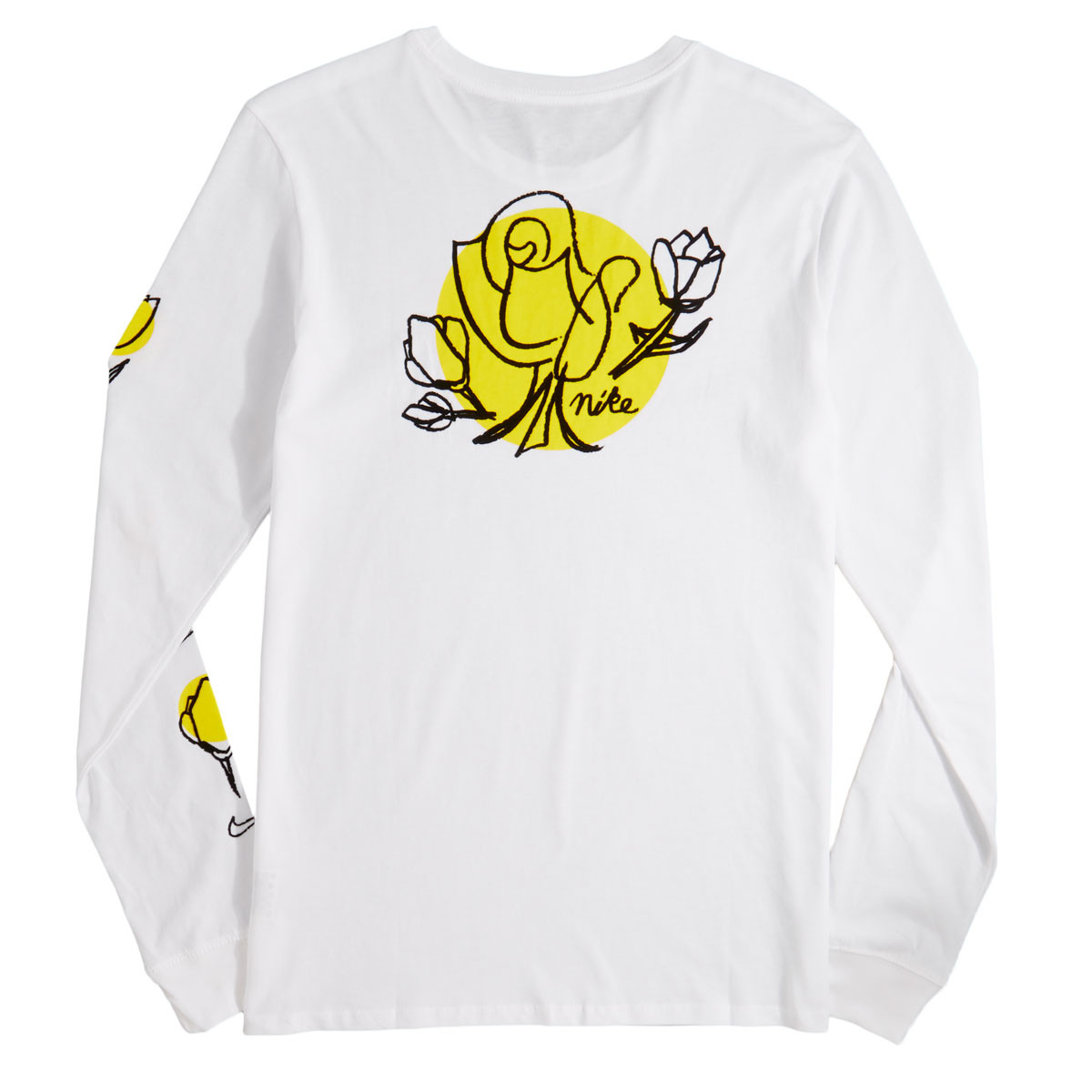 0d0dd592b53 Nike SB Roses Long Sleeve T-Shirt - White Black - LG